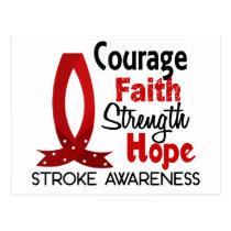 Courage Faith Strength Hope Stroke Postcard