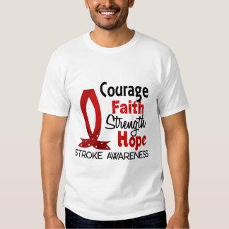 Courage Faith Strength Hope Stroke T-shirt