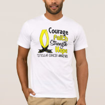 Courage Faith Strength Hope Testicular Cancer T-Shirt