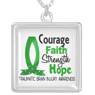 Courage Faith Strength Hope Traumatic Brain Injury Custom Jewelry