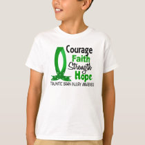 Courage Faith Strength Hope Traumatic Brain Injury T-Shirt