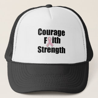 Courage Faith Strength Pink Ribbon Cap
