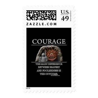 Courage Fantasy (de)Motivator Postage