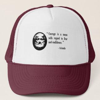 courage, fear, confidence Aristotle cap