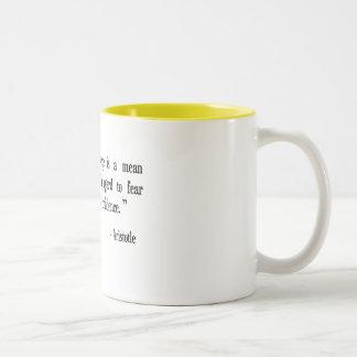 courage, fear, confidence Aristotle cup