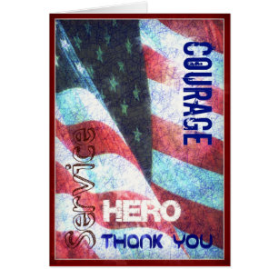 Happy veterans day cards greeting photo cards zazzle courage hero thank you veterans day card m4hsunfo Image collections