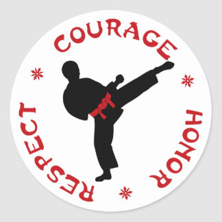 Courage Honor Respect man stickers