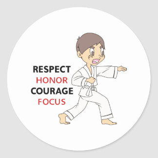 COURAGE HONOR RESPECT ROUND STICKERS