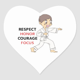 COURAGE HONOR RESPECT HEART STICKERS