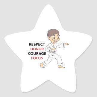 COURAGE HONOR RESPECT STAR STICKER