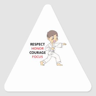 COURAGE HONOR RESPECT TRIANGLE STICKERS
