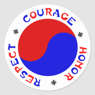 Courage Honor Respect Stickers for Martial Arts