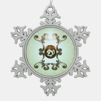 Courage in combat snowflake pewter christmas ornament