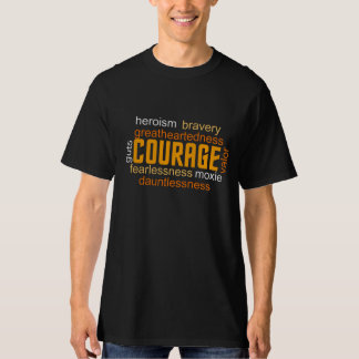 COURAGE Inspired WORD Cloud Tee