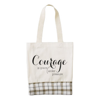 Courage is Grace Under Pressure Quote Tote