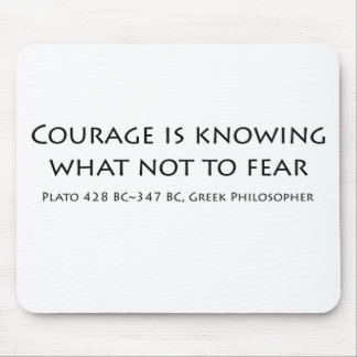 """""""Courage is knowing...."""" Mouse Pad"""