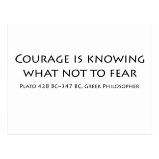 """""""Courage is knowing...."""" Postcard"""