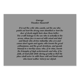 Courage Large Business Card