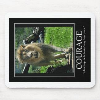 COURAGE Mousepad - Lion (Motivational)