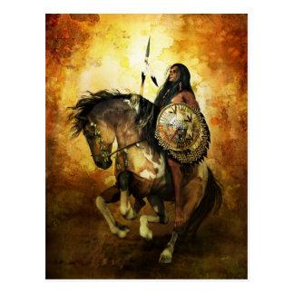 Courage Native American Warrior Postcard