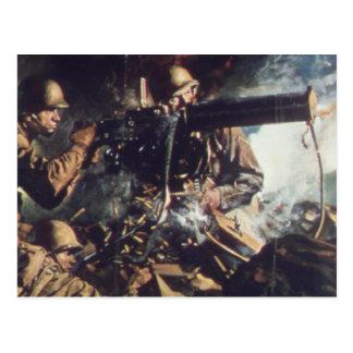 Courage on Battlefield Postcard