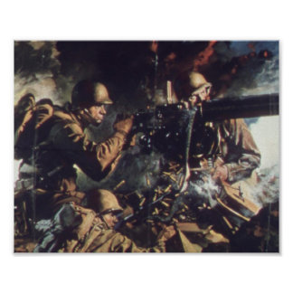 Courage on Battlefield Poster