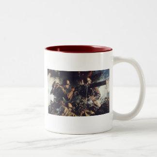 Courage on Battlefield Two-Tone Coffee Mug