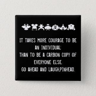 courage pinback button