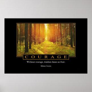 Courage Poster: Baltasar Gracian