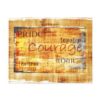 Courage Pride Lion Inspirational Canvas Print