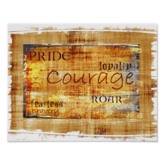 Courage Pride Lion Inspirational Poster