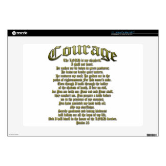Courage - Psalm 23 Decal For Laptop
