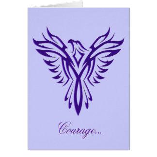 Courage - Purple Phoenix Rising blank notelet Card