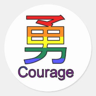 Courage Round Stickers
