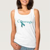 Courage teal ribbon tank top