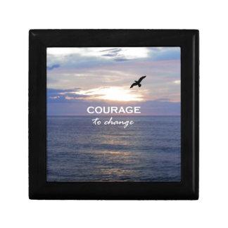 Courage To Change Keepsake Box