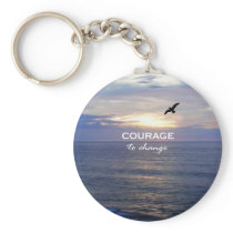 Courage To Change Keychain