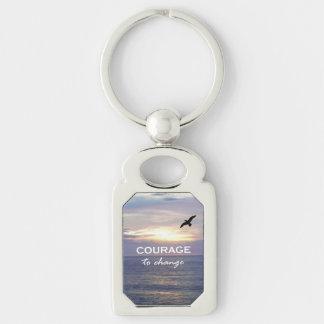 Courage To Change Keychain