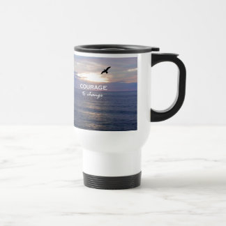 Courage To Change 15 Oz Stainless Steel Travel Mug