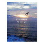 Courage To Change Postcard