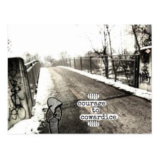 courage to cowardice postcard