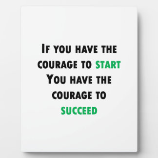 Courage To Succeed Photo Plaques