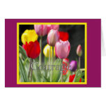 Courage Tulips, for Cancer Patient Card