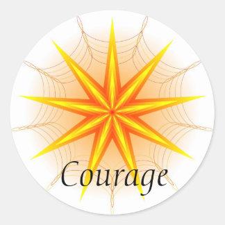 Courage (Virtue sticker) Classic Round Sticker