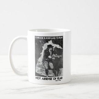 Courage vs Fear - How To Win Classic White Coffee Mug