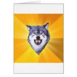 Courage Wolf Advice Animal Internet Meme Greeting Cards