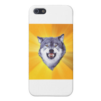 Courage Wolf Advice Animal Internet Meme Cover For iPhone 5