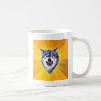 Courage Wolf Advice Animal Internet Meme Classic White Coffee Mug