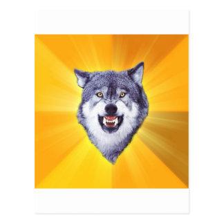 Courage Wolf Advice Animal Internet Meme Postcard