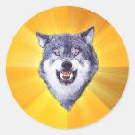 Courage Wolf Advice Animal Internet Meme Sticker